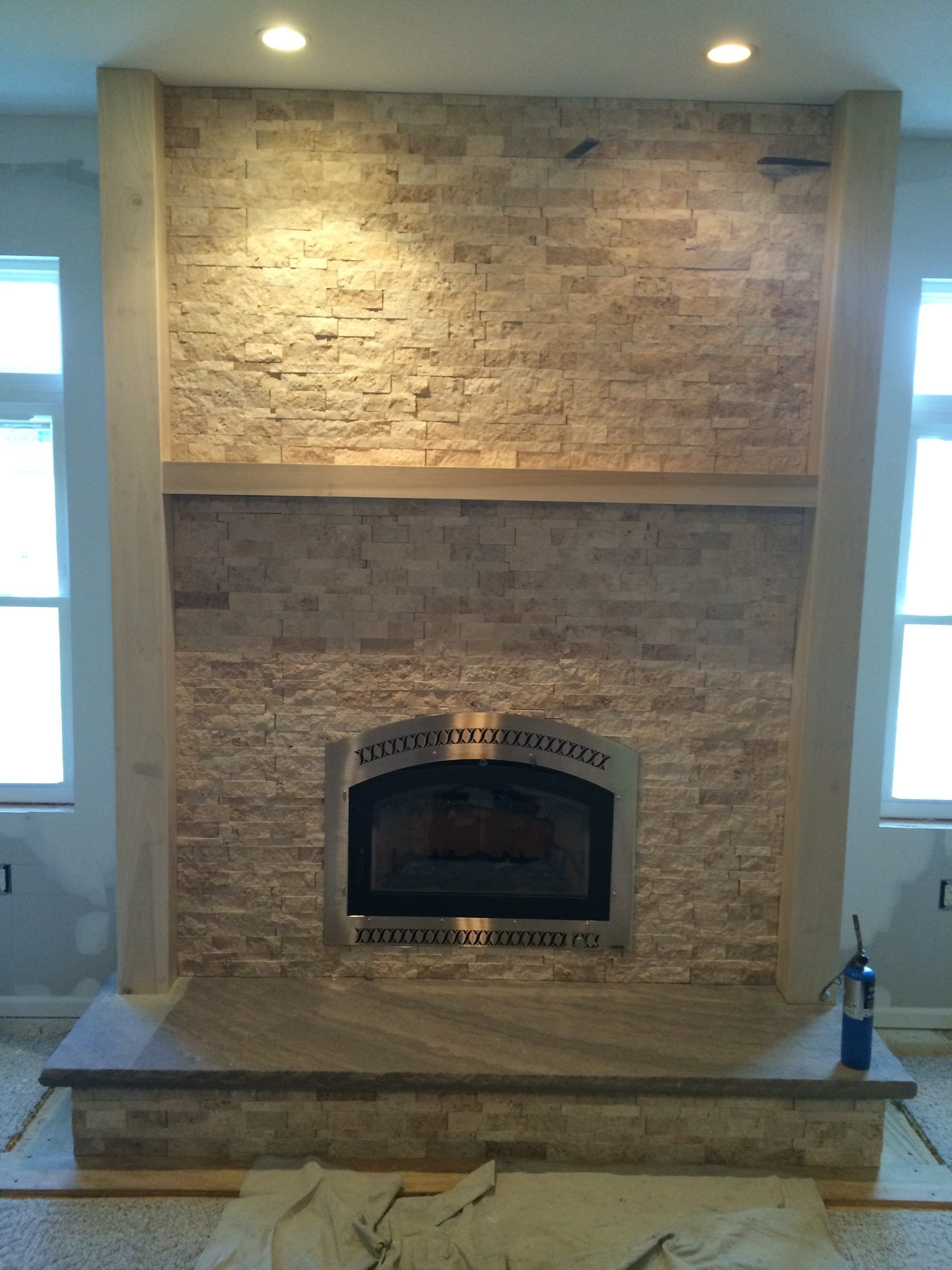 Bowden's Fireside recently visited a home in Allentown, NJ and turned a prefabricated fireplace into a high-efficiency wood-burning fireplace.