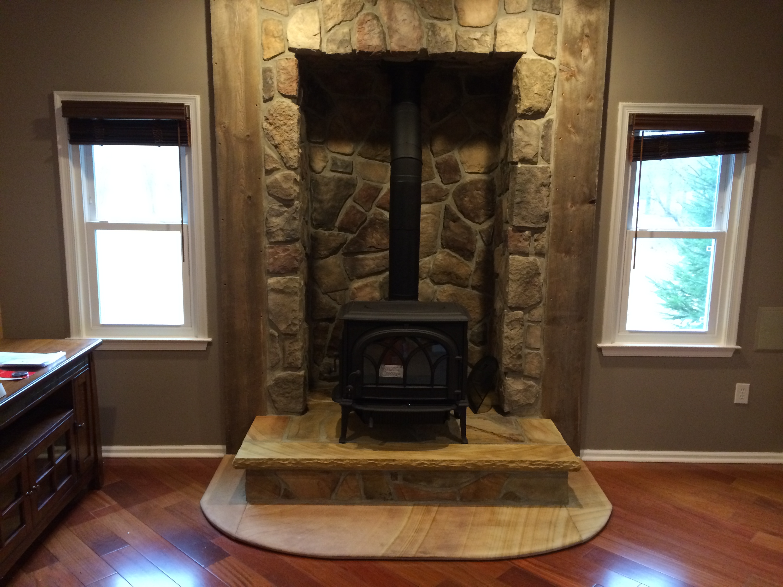 Wood stove surround ideas - Installation Of Wood Burning Stoves Wood Burning Stoves Millstone Nj